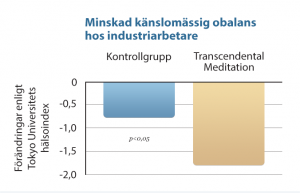 B19 Minskad känslomässig obalans hos industriarbetare, genom Transcendental Meditation